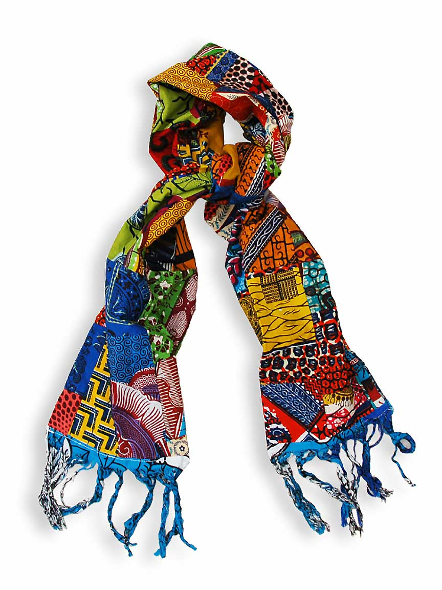 Patch Quilt Neck Scarf